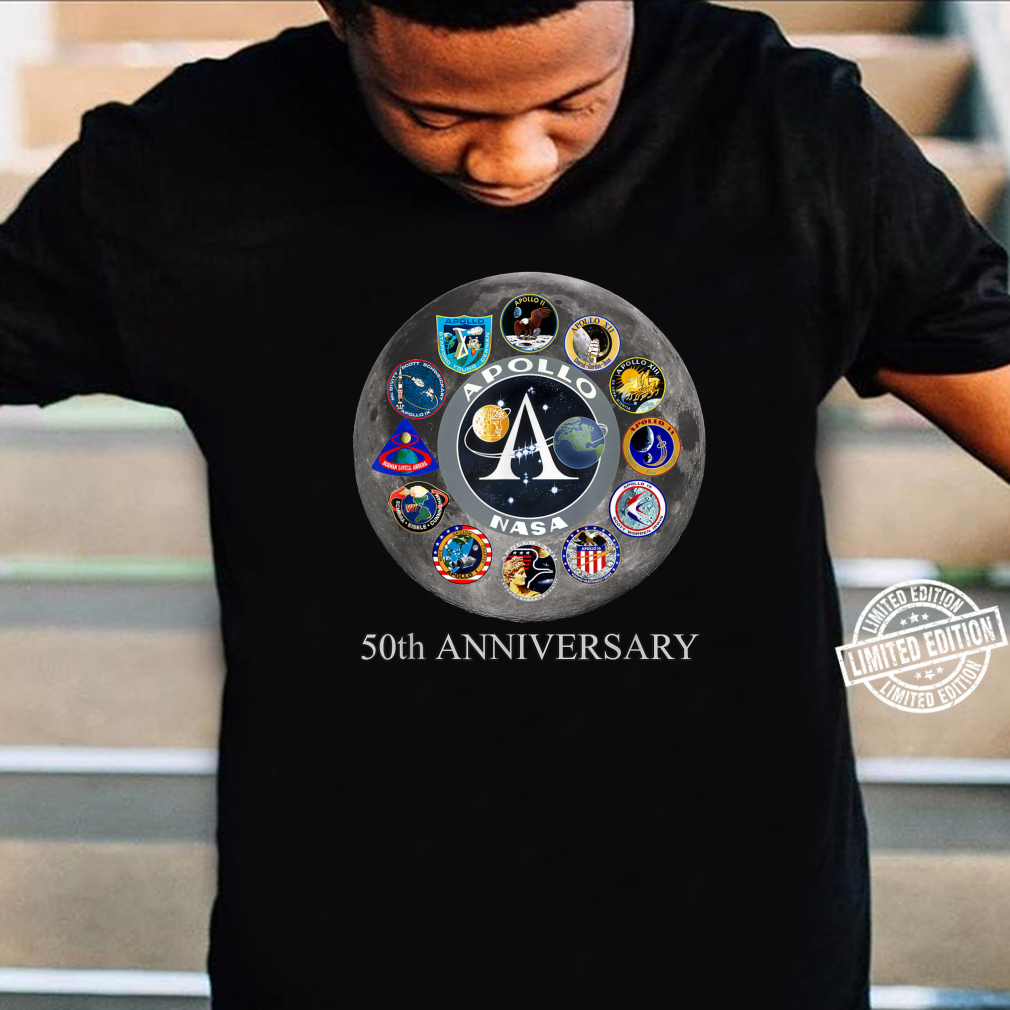 All Apollo Mission Badges Pacht 50th Moon Landing Idea Shirt