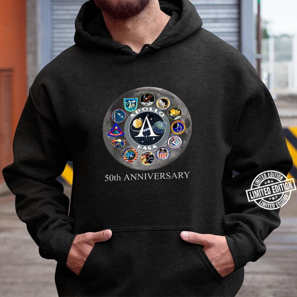 All Apollo Mission Badges Pacht 50th Moon Landing Idea Shirt hoodie