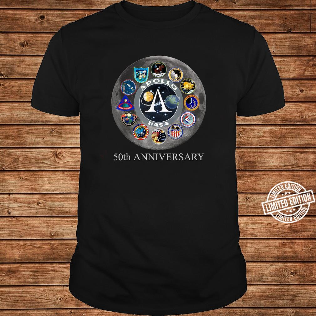 All Apollo Mission Badges Pacht 50th Moon Landing Idea Shirt long sleeved