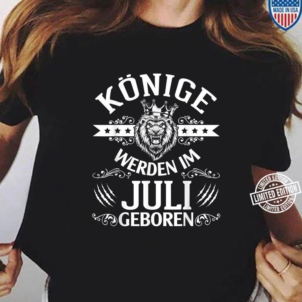 Alles Gute zum Geburtstag Könige werden im Juli geboren Shirt ladies tee