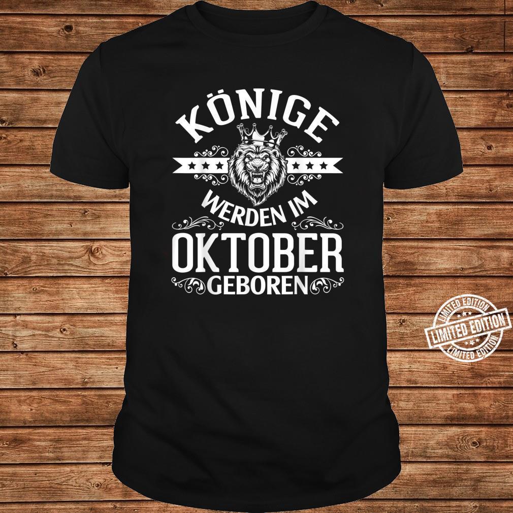 Alles Gute zum Geburtstag Könige werden im Oktober geboren Shirt long sleeved