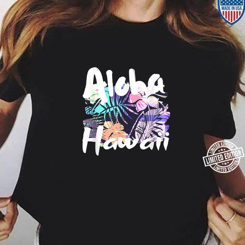 Aloha Hawaii tropische Blumenblätter Shirt ladies tee