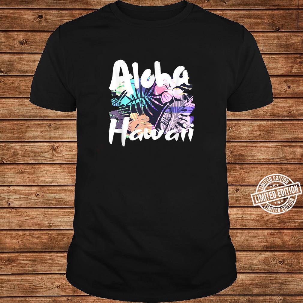 Aloha Hawaii tropische Blumenblätter Shirt long sleeved