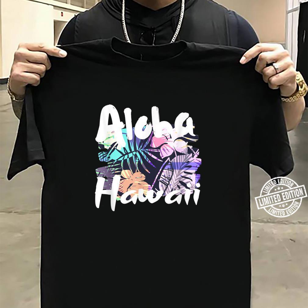 Aloha Hawaii tropische Blumenblätter Shirt sweater
