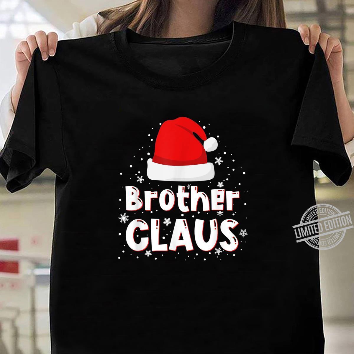 Brother Claus Christmas Family Matching Pajama Shirt ladies tee