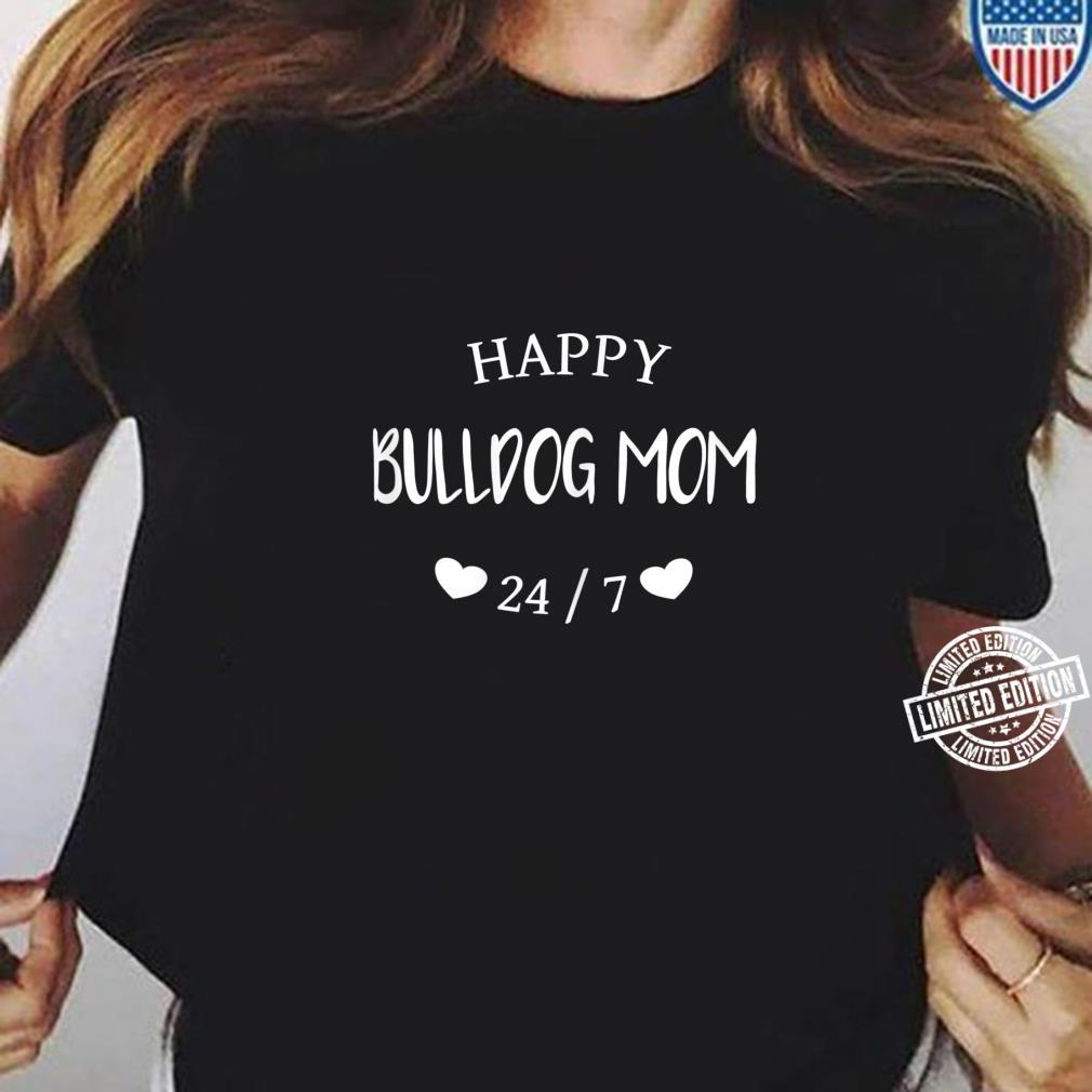 Damen Glückliche Bulldoggen Mama I Bulldog Mom, Shirt ladies tee