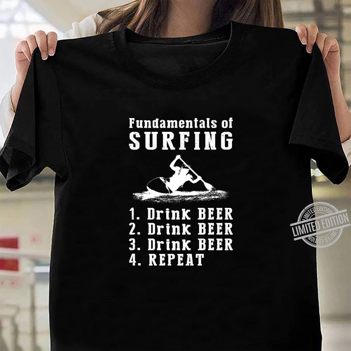 Fundamentals of kayaking drink beer drink beer repeat Shirt ladies tee