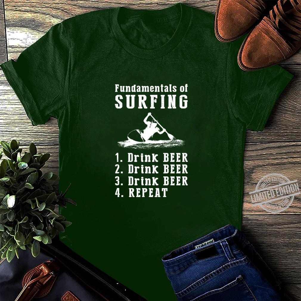 Fundamentals of kayaking drink beer drink beer repeat Shirt long sleeved