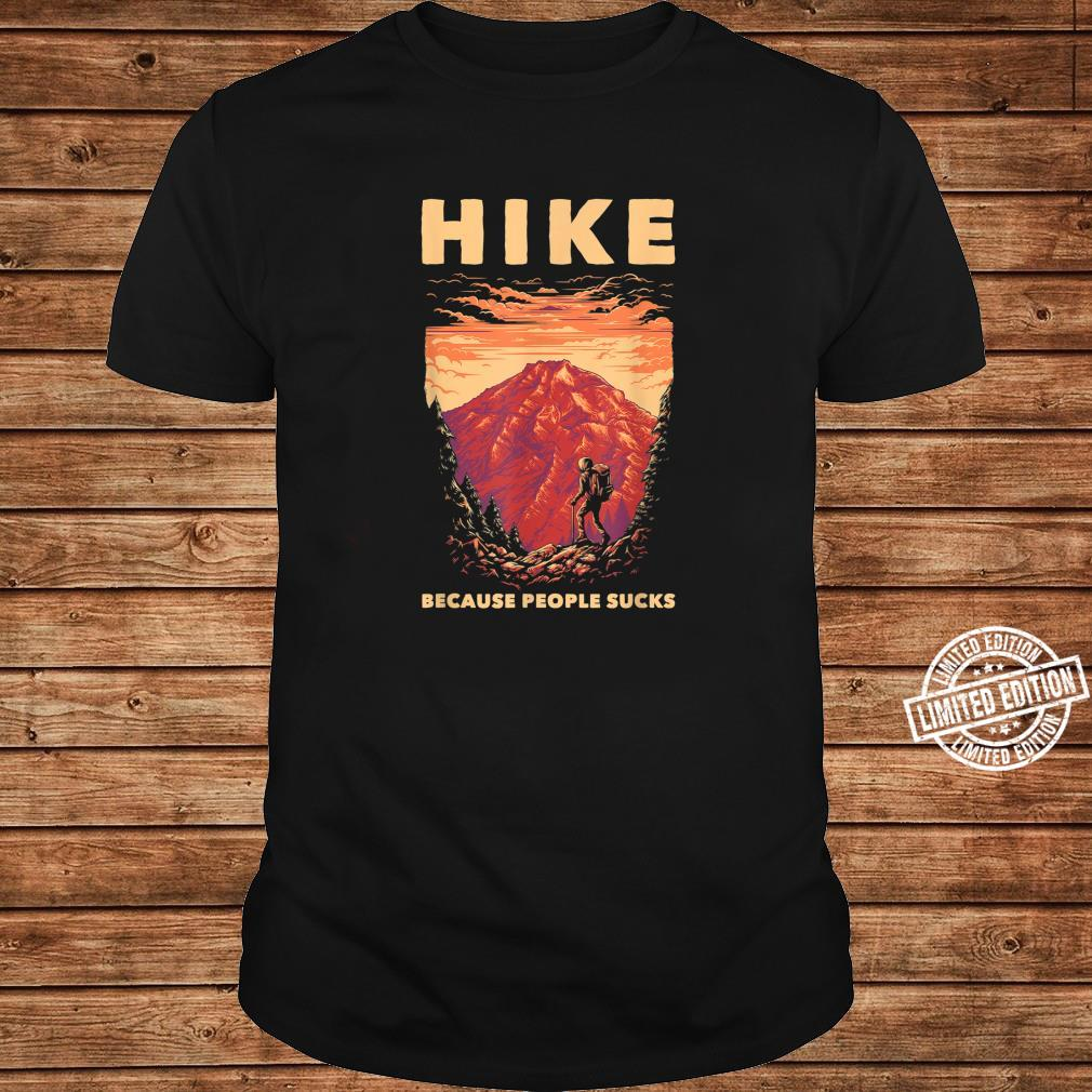 Funny Hiker Forest Nature Environment Hiking Hiking Shirt long sleeved