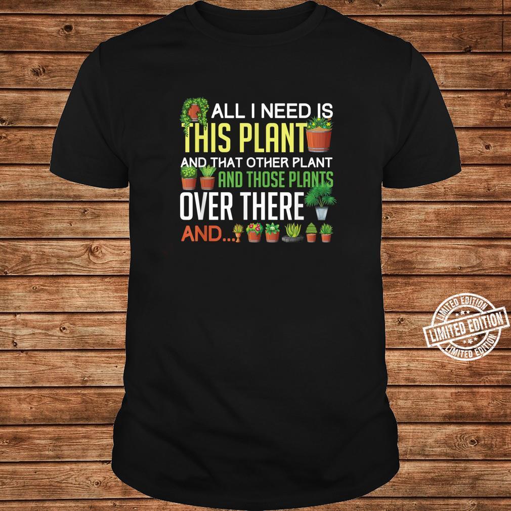 Funny Plants Houseplant Garden Gardener Flower Shirt long sleeved