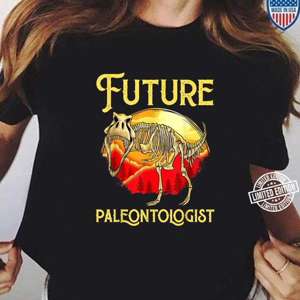 Future Paleontologist Dinosaur Obsessed Dino Fossil Shirt ladies tee