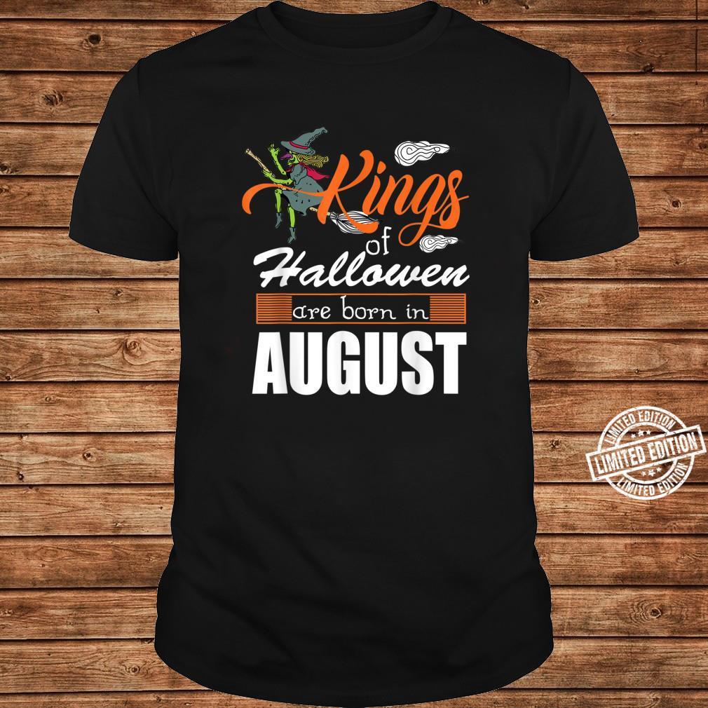 Halloween Kings Are Born In August Shirt ladies tee