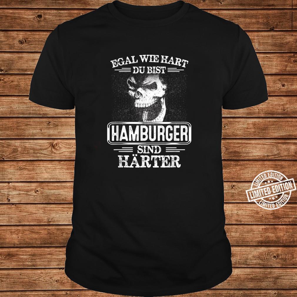 Hamburger sind härter Städte Kleidung Stadt Hamburg Shirt ladies tee
