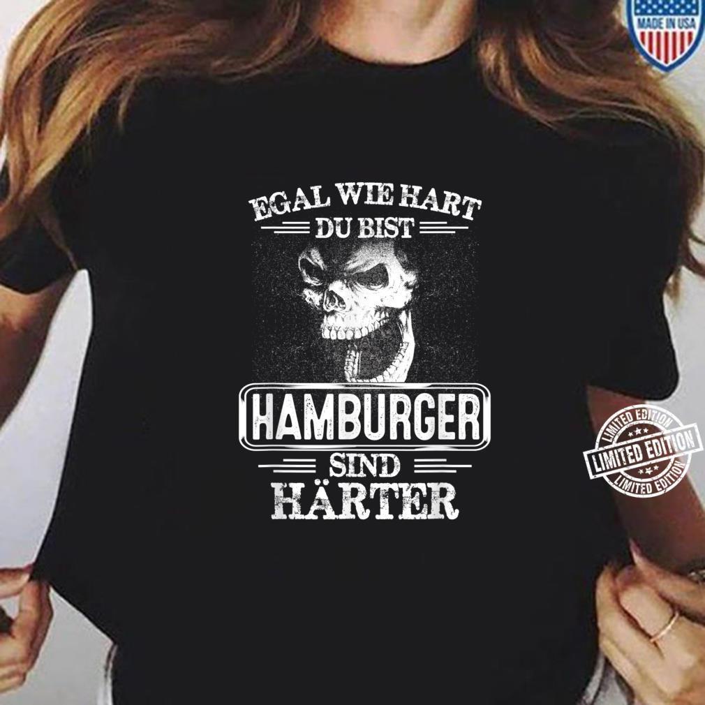 Hamburger sind härter Städte Kleidung Stadt Hamburg Shirt long sleeved