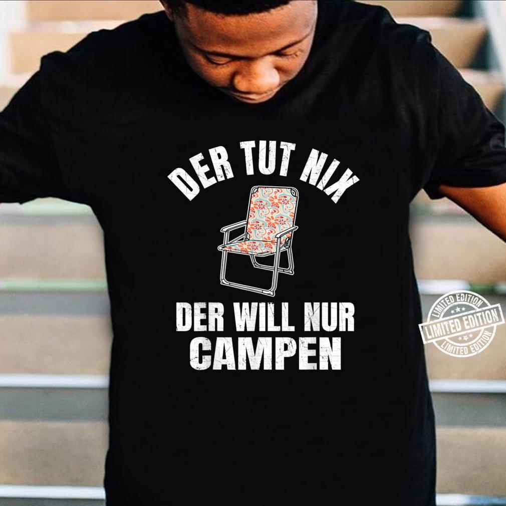 Herren Camping & Camper Geschenk Wohnwagen Rentner Spruch Lustig Shirt