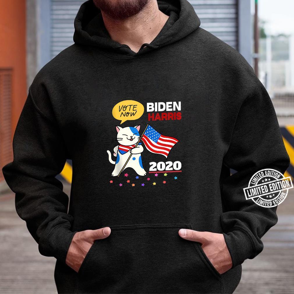 Joe Biden Kamala Harris VOTE 2020 Cat Election Shirt hoodie