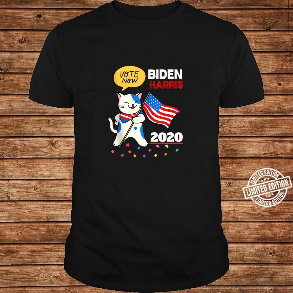 Joe Biden Kamala Harris VOTE 2020 Cat Election Shirt ladies tee