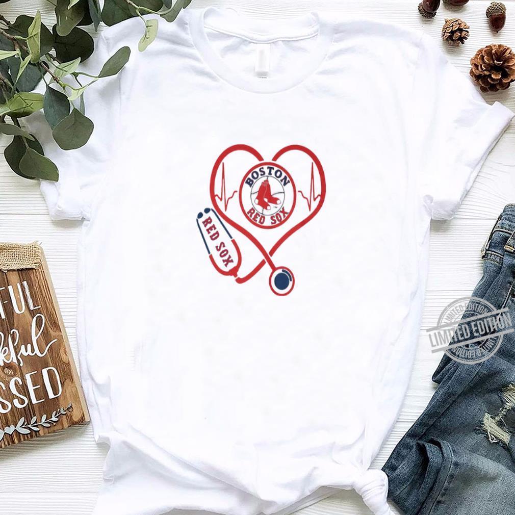 Love Boston Red Sox Stethoscope Heartbeat shirt, hoodie, sweater, longsleeve t-shirt