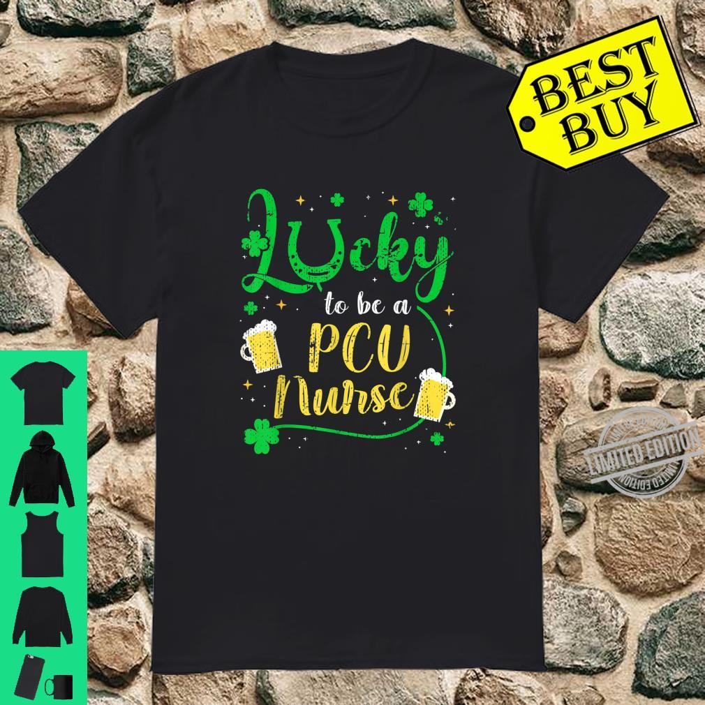 Lucky To Be PCU Nurse Shamrock St Patrick's Day Shirt