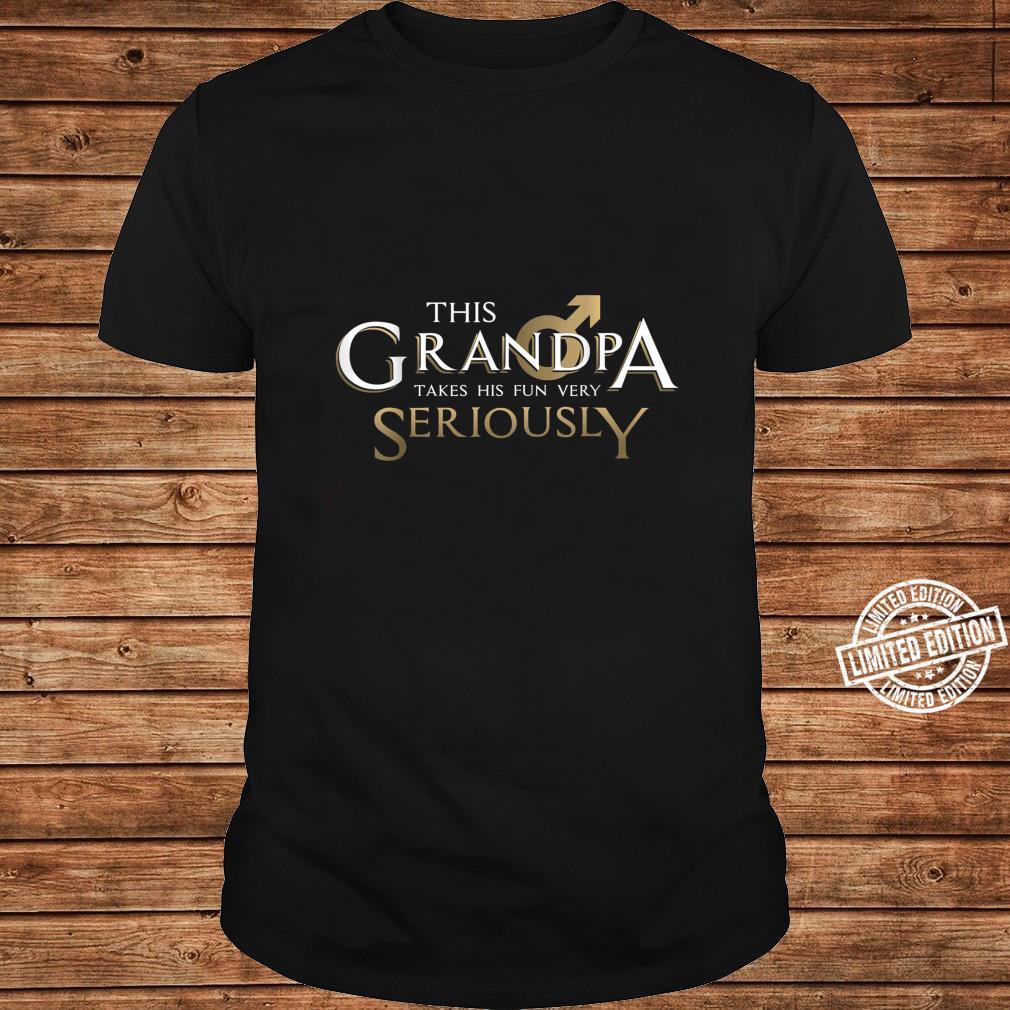 This Grandpa Takes His Fun Very SeriouslyGrandparent's Day Shirt ladies tee