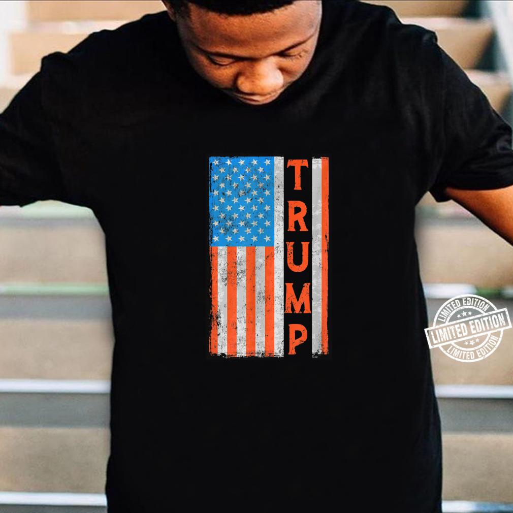 Trump Vintage Retro Distressed USA Flag American Flag Retro Shirt