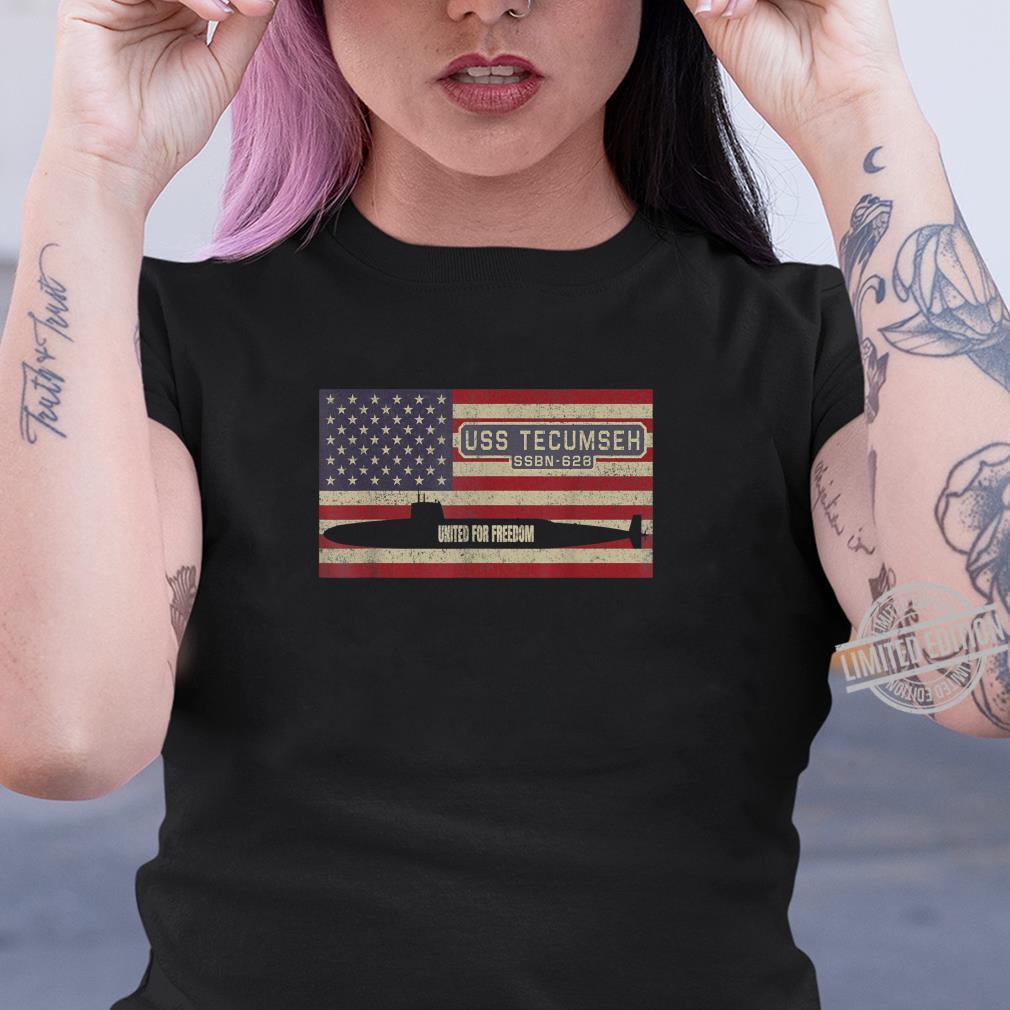USS Tecumseh SSBN628 UBoot USA Flag Geschenk Shirt