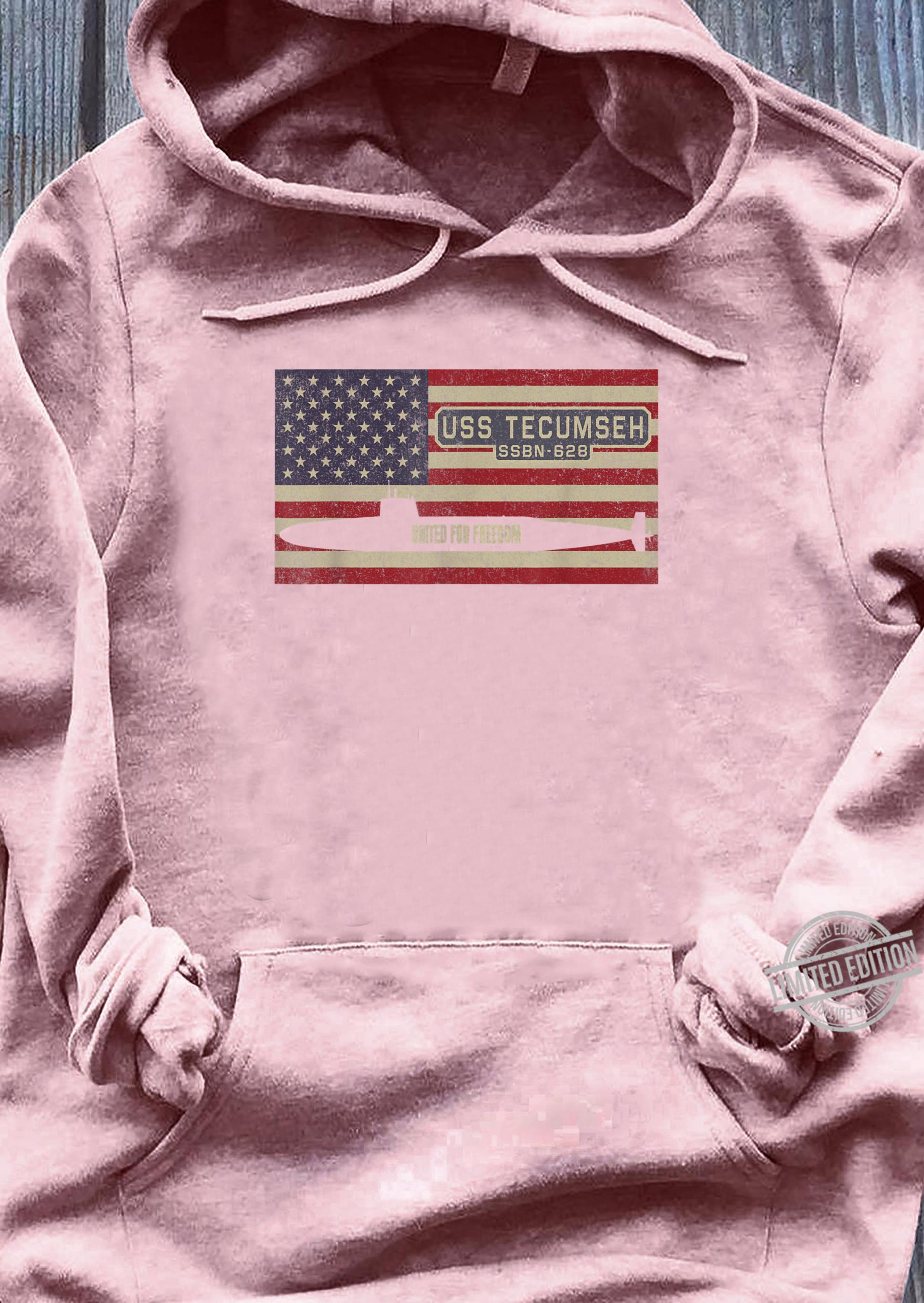 USS Tecumseh SSBN628 UBoot USA Flag Geschenk Shirt sweater