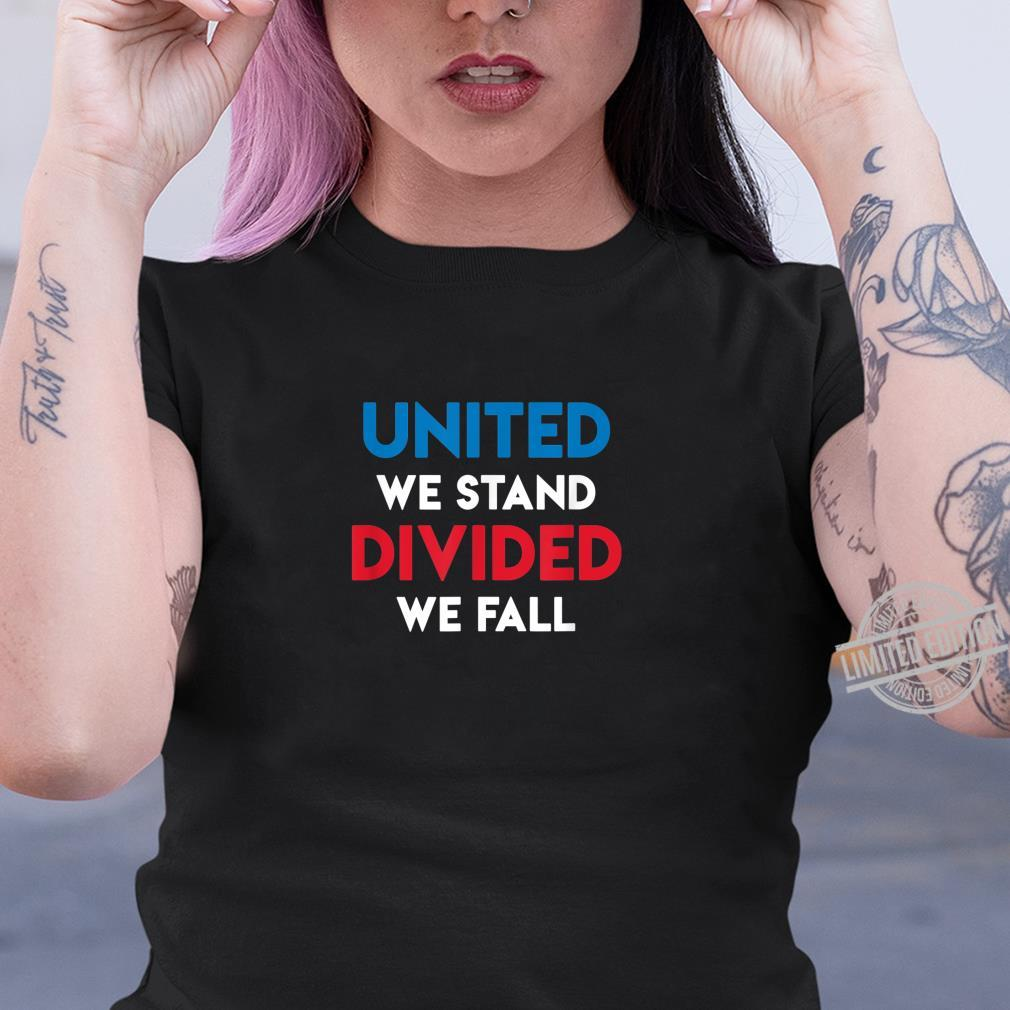 United We Stand Divided We Fall Black Lives Matter, Police Shirt