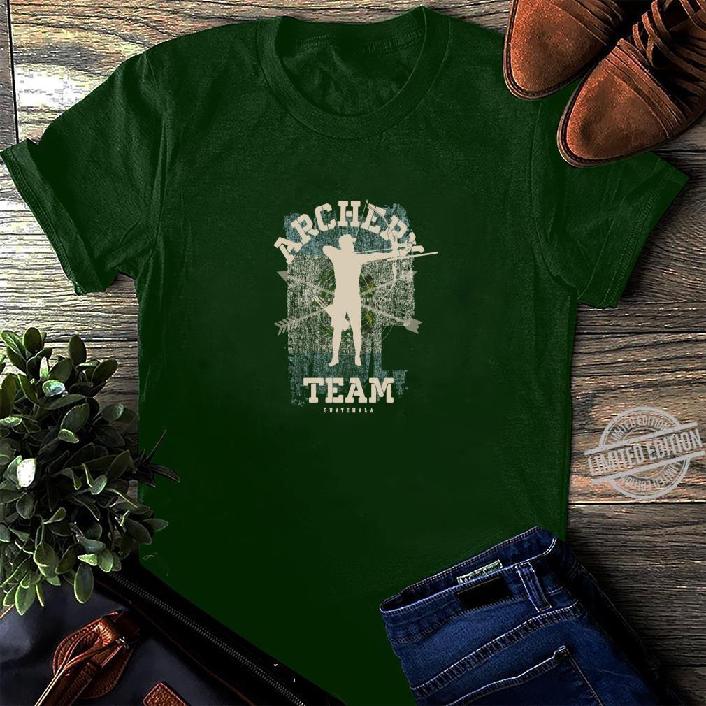Ð?i b?n cung Guatemala Th? thao C? Guatemala Mui tên Áo thun Áo thun Shirt long sleeved